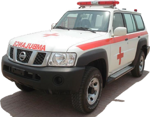naujas greitosios pagalbos automobilis NISSAN Patrol 4.0 XE AT