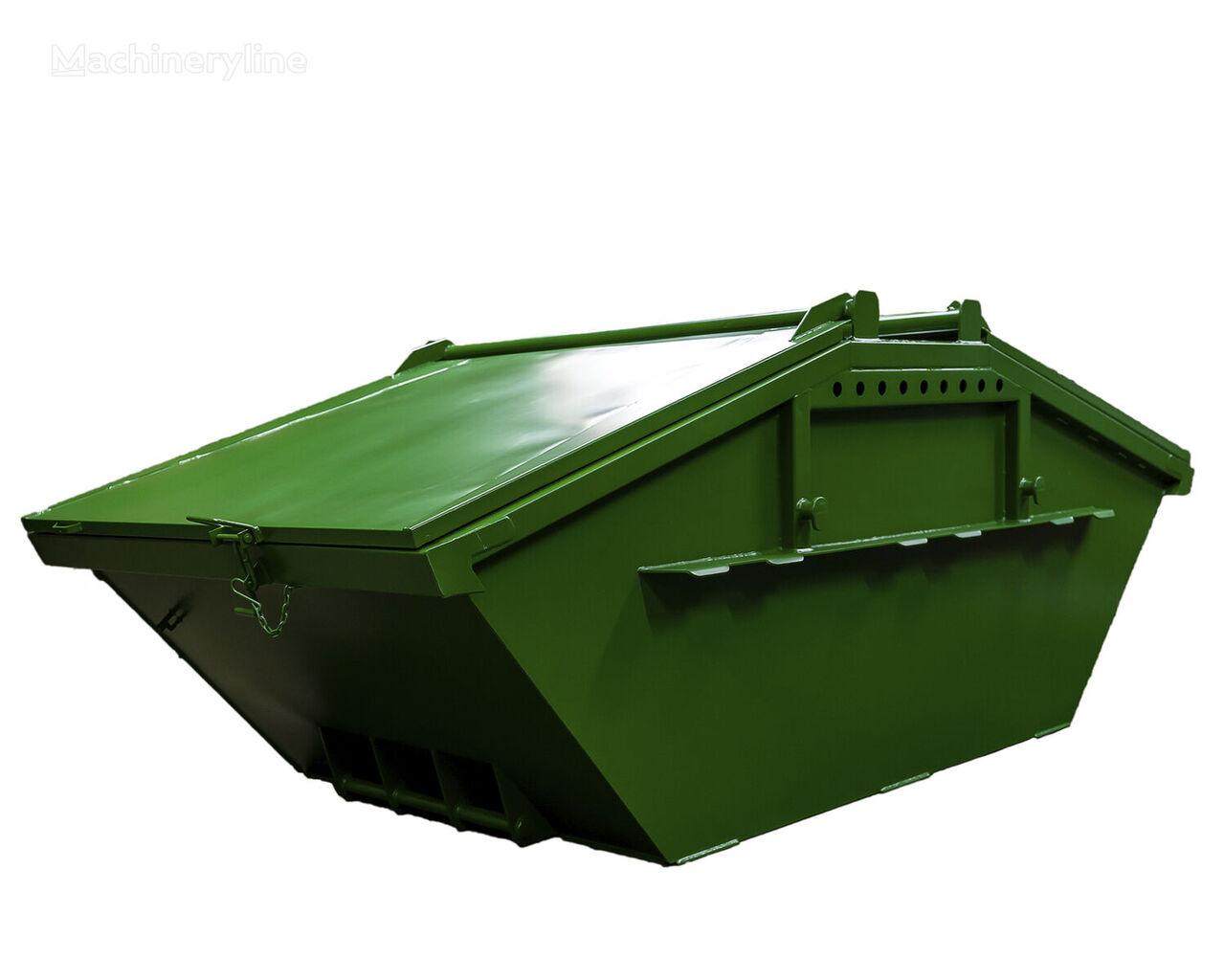 naujas statybinių atliekų konteineris Absetzmulde Absetzcontainer Mulde Container 5cbm Stahldeckel