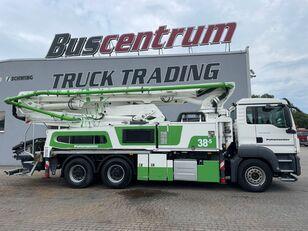 betono siurblys Putzmeister BSF 38-5.16 HLS su MAN TGS 26.400 6x4 Putzmeister 38-5 m / Top Pump / German Truck važiuokle
