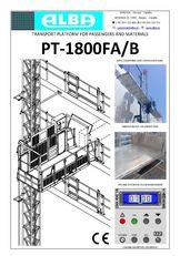 naujas fasadinis keltuvas PT ALBA 1800FA/B