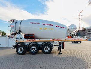 puspriekabė betono maišyklė SCHWARZMÜLLER TTC-Fulda Betonmischer Auflieger mit Motor  NEU
