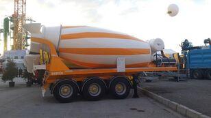 naujas puspriekabė betono maišyklė SEMIX